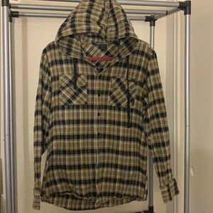 Oakley Hooded Button-Up Flannel